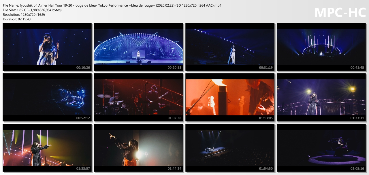 "Aimer Hall Tour 19/20 ""rouge de bleu"" Tokyo Performance ~bleu de rouge~ (2020/02/22)"