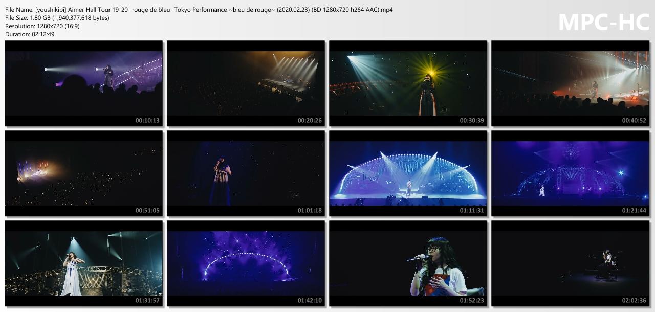 "Aimer Hall Tour 19/20 ""rouge de bleu"" Tokyo Performance ~bleu de rouge~ (2020/02/23)"